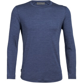 Icebreaker Sphere Langarm Rundhals Oberteil Herren estate blue heather